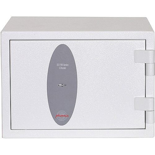 Phoenix Citadel SS1191K Size 1 Fire &S2 Security Safe with Key Lock White 18L 30mins Fire Protection