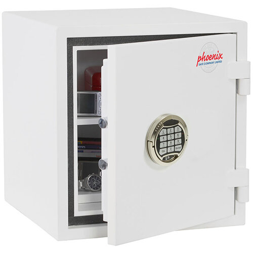 Phoenix Citadel SS1192E Size 2 Fire &S2 Security Safe with Electronic Lock White 31L 30mins Fire Protection
