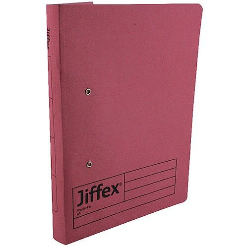 Rexel Jiffex Pink A4 Transfer File (Pack of 50)