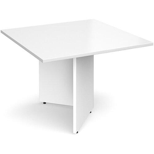 Arrow Head Leg Square Boardroom Table Extension 1000mm x 1000mm - White