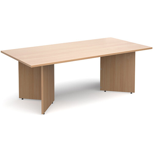 Arrow Head Leg Rectangular Boardroom Table 2000mm x 1000mm - Beech