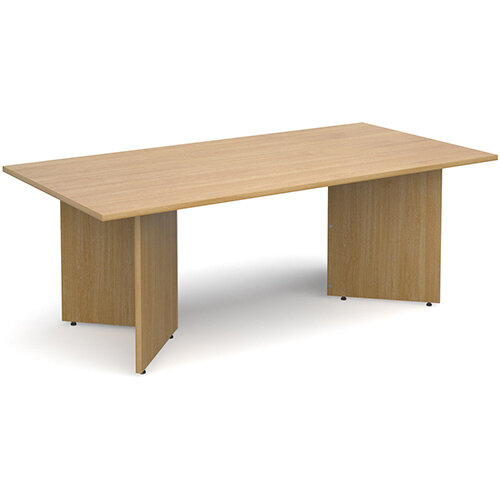 Arrow Head Leg Rectangular Boardroom Table 2000mm x 1000mm - Oak