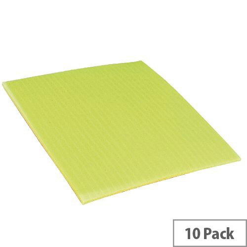 Ecotech Cellulose Yellow Sponge Cloths Pack of 10 200x180mm