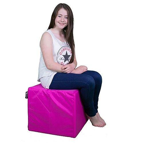 Elephant Cube Chair 450x450x400mm Shocking Pink