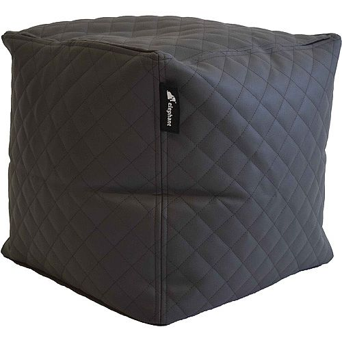 Elephant Cube Chair 350x350x400mm Smoke Grey Quilted