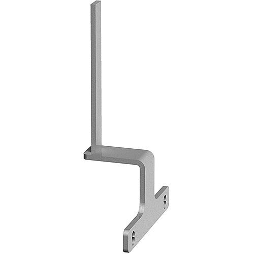 Screen Bracket For The Ends Of Back To Back Adapt And Fuze Desks - Silver
