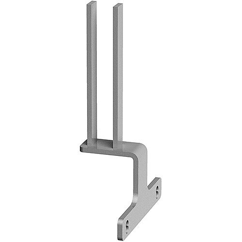 Screen Bracket For Intermediate Back To Back Adapt And Fuze Desks - Silver
