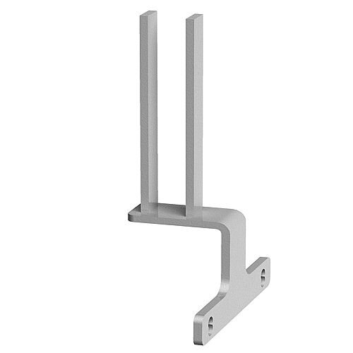 Screen Bracket For Intermediate Back To Back Adapt And Fuze Desks - White