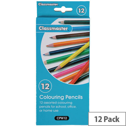 Classmaster Assorted Classroom Colouring Pencils Pack of 12 CPW12