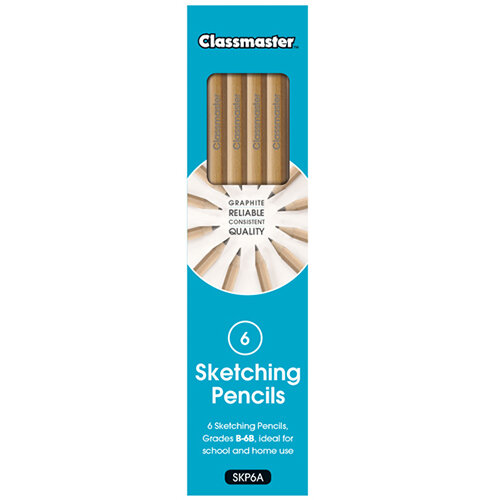 Classmaster Sketching Pencils Pack of 6 SKP6A