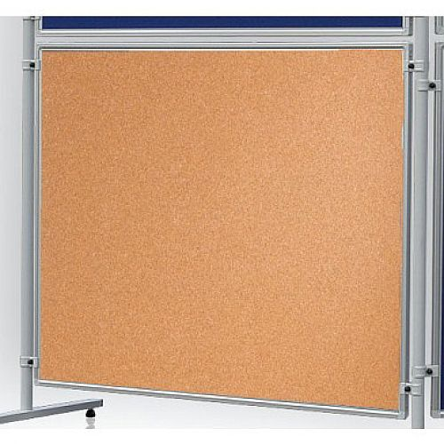 Double Sided Cork Notice Board 1200 x 1500mm Franken Eco Partition System Module