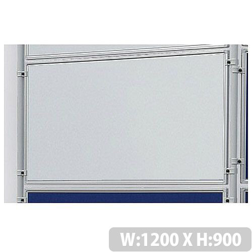Double Sided Magnetic Whiteboard 1200 x 900mm Franken Eco Partition System Module