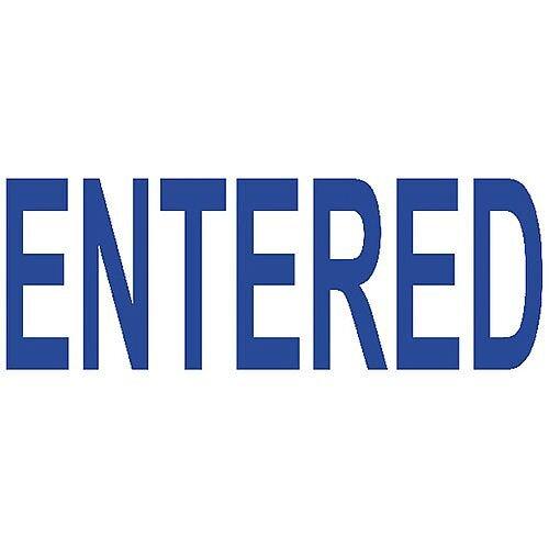 Colop Green Line Word Stamp ENTERED Blue C144836ENT
