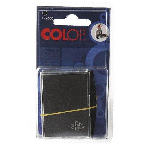 Colop E/2600 Replacement Pad Black E2600Black Pk 2