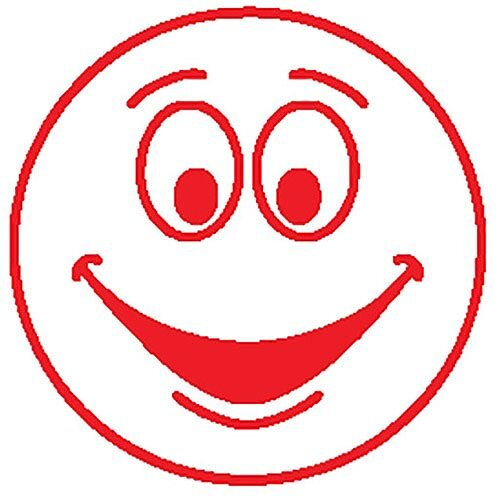 Colop Motivational Stamp Happy Face Red MOTIVSM