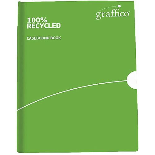 Graffico Recycled Casebound A5 Notebook Feint Ruled 160 Pages 9100033