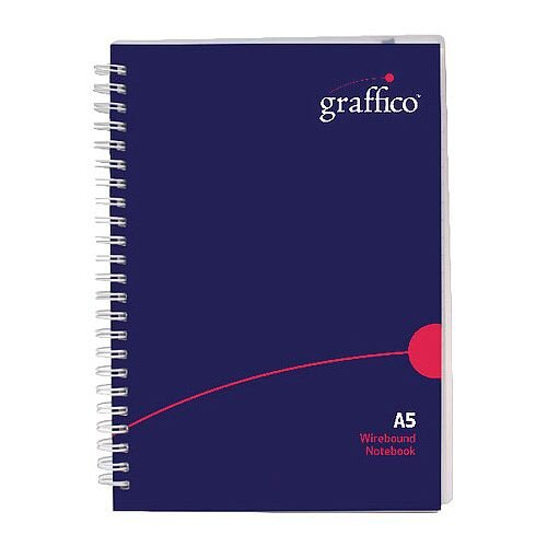 Graffico Twin Wire Polypropylene A5 Notebook 140 Pages
