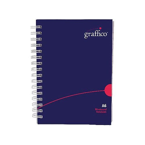 Graffico Twin Wire Polypropylene A6 Notebook 140 Pages
