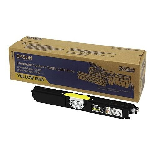 Epson S050558 AcuLaser C1600/CX16 Yellow Toner Cartridge C13S050558 Standard Capacity 1600+ Pages