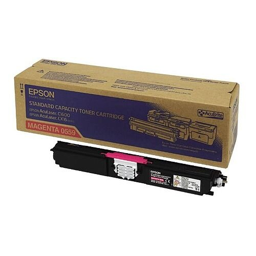 Epson S050559 AcuLaser C1600/CX16 Magenta Toner Cartridge Standard Capacity C13S050559 1600+ Pages