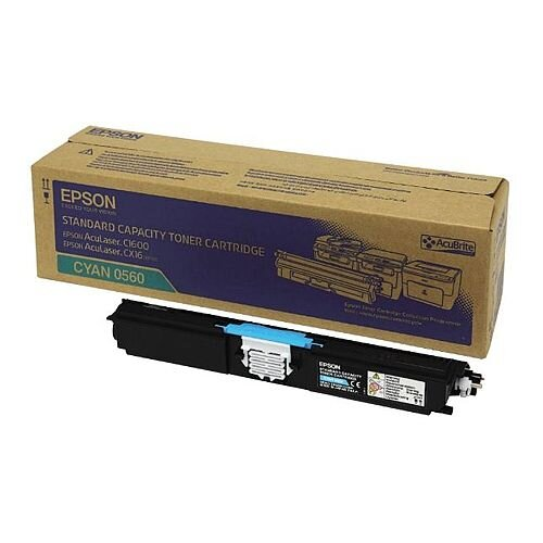 Epson S050560 AcuLaser C1600/CX16 Cyan Toner Cartridge C13S050560 Standard Capacity 1600+ Pages