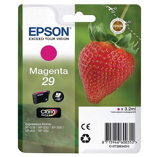 Epson 29 (T2983) Magenta Inkjet Cartridge Strawberry Series C13T29834010 / T2983 C13T29834012
