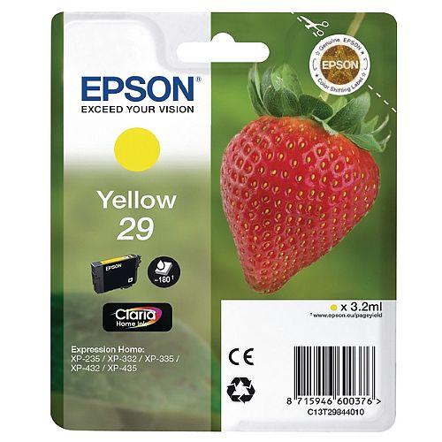 Epson 29 (T2984) Yellow Inkjet Cartridge Strawberry Series C13T29844010 / T2984 C13T29844012