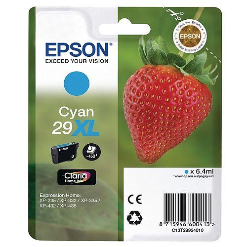 Epson 29XL Cyan High Capacity Ink Cartridge Strawberry Series C13T29924010 / T2992 C13T29924012