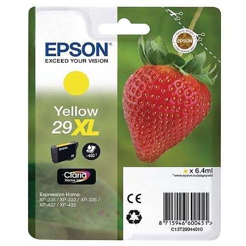 Epson 29XL Yellow High Capacity Inkjet Cartridge Strawberry Series C13T29944010 / T2994 C13T29944012