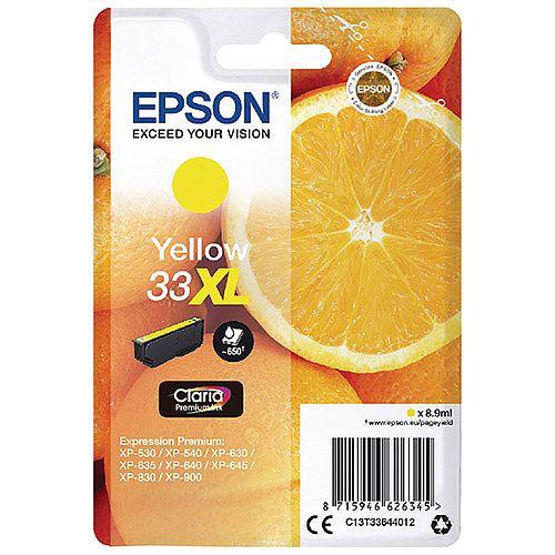 Epson 33XL Yellow High Yield Inkjet Cartridge C13T33644010 / T3364 C13T33644012