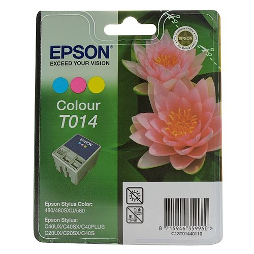 Epson Inkjet Cartridge Stylus 480 3-Colour 25ml T014 C13T014401