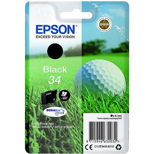 Epson Singlepack Black 34 DURABrite Ultra Ink