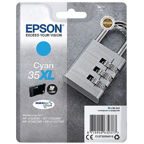 Epson Singlepack Cyan 35XL DURABrite Ultra Ink