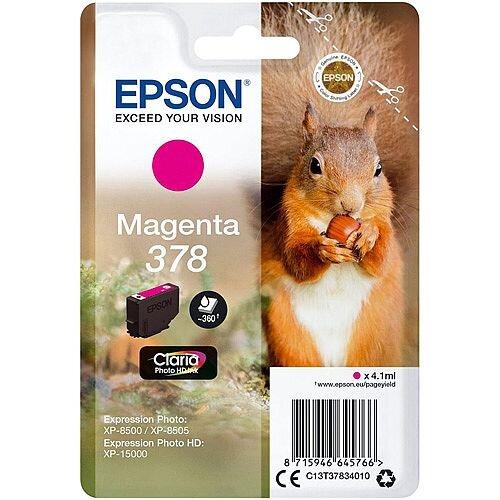 Epson 378 (T3783) Magenta Original Ink Cartridge C13T37834010
