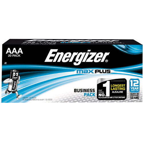 Energizer Max Plus AAA Batteries Pack of 20 E301322900