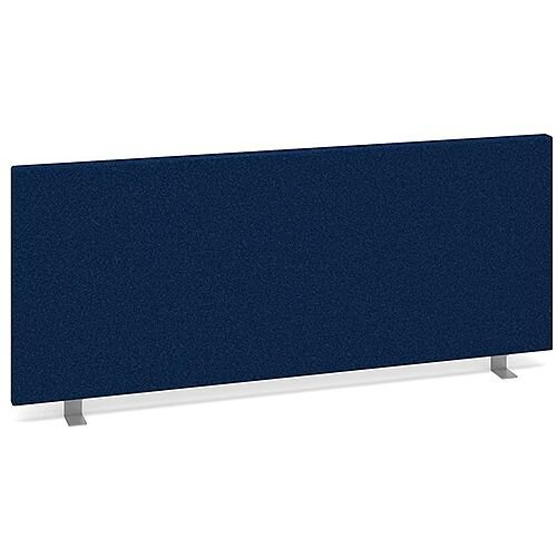 Straight Fabric Upholstered Office Desk Screen 1000mmx400mm - Blue