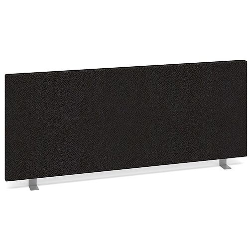 Straight Fabric Upholstered Office Desk Screen 1000mmx400mm - Charcoal