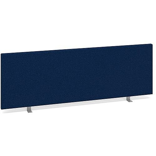 Straight Fabric Upholstered Office Desk Screen 1200mmx400mm - Blue