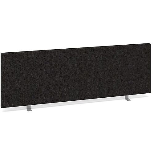 Straight Fabric Upholstered Office Desk Screen 1200mmx400mm - Charcoal