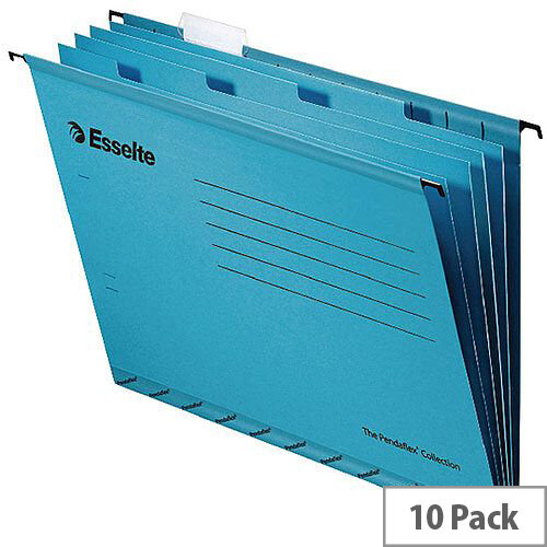 Esselte Pendaflex Hanging File Divider Black Foolscap Pack of 10 93135