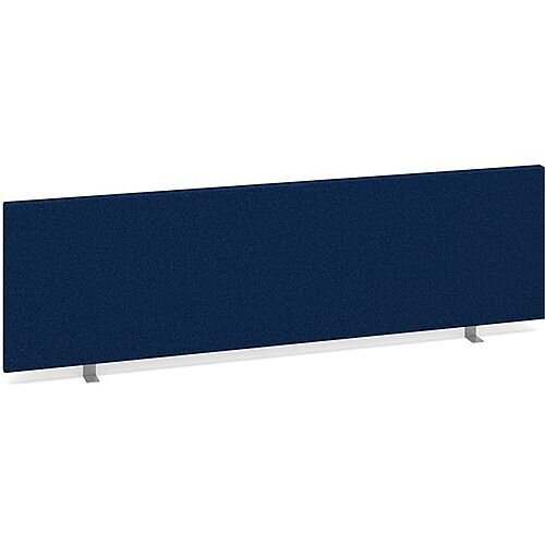 Straight Fabric Upholstered Office Desk Screen 1400mmx400mm - Blue