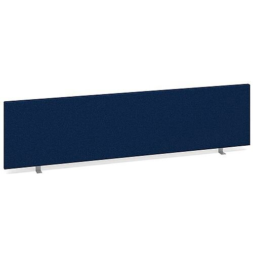 Straight Fabric Upholstered Office Desk Screen 1600mmx400mm - Blue