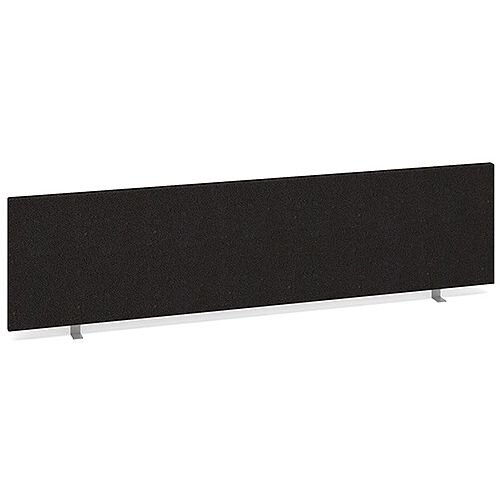 Straight Fabric Upholstered Office Desk Screen 1600mmx400mm - Charcoal