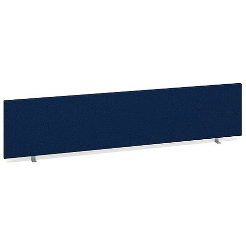 Straight Fabric Upholstered Office Desk Screen 1800mmx400mm - Blue