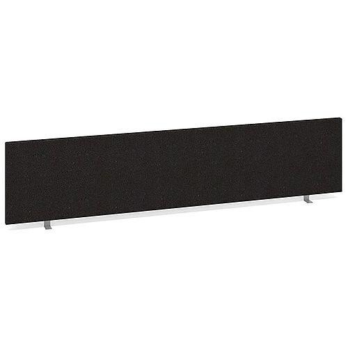 Straight Fabric Upholstered Office Desk Screen 1800mmx400mm - Charcoal