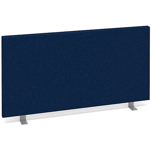 Straight Fabric Upholstered Office Desk Screen 800mmx400mm - Blue