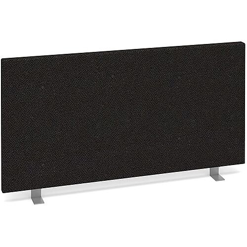 Straight Fabric Upholstered Office Desk Screen 800mmx400mm - Charcoal