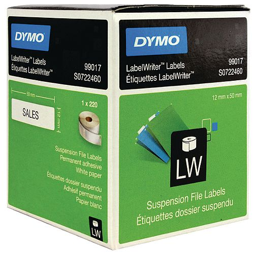 Dymo 99017 LabelWriter Labels Suspension File 50 x 12mm Pack 220
