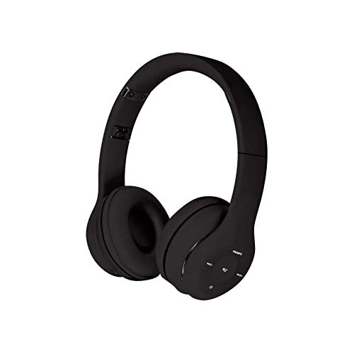 Omega FH0915 Freestyle Bluetooth Headset with Built-in Microphone - microSD Card, FM Radio, Line-In, USB, Bluetooth 3.0 - Foldable Built, Lightweight, Ergonomic Design - Black