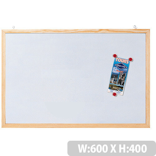 Franken Magnetic Whiteboard with Wooden Frame 600 x 400mm